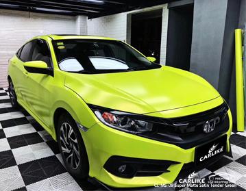 CARLIKE CL-MS-09 супер матовая атласная нежная зеленая автомобильная виниловая пленка для Honda