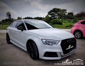 CARLIKE CL-MS-16 super matte satin nardo grey car wrap vinyl for Audi