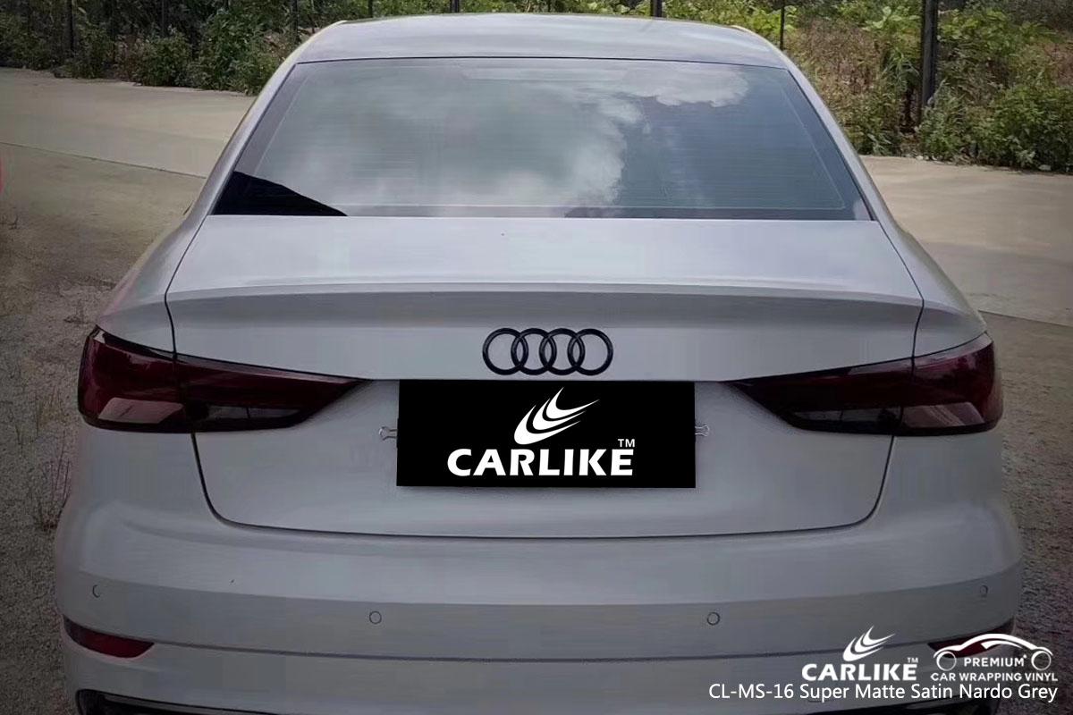 CARLIKE CL-MS-16 super matte satin nardo grey car wrap vinyl for Audi