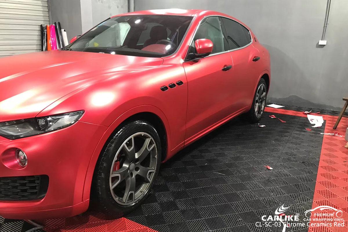 CARLIKE CL-SC-03 chrome ceramics red car wrap vinyl for Maserati