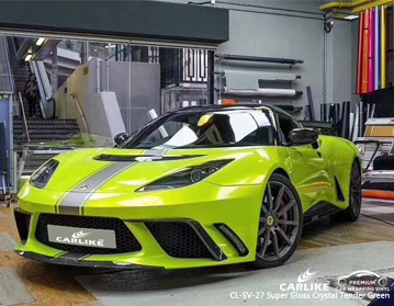 CARLIKE CL-SV-27 super gloss crystal tender green car wrapping vinyl