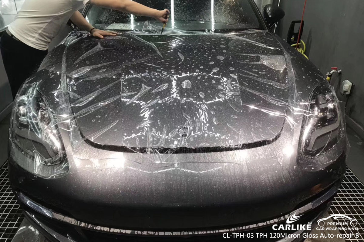CARLIKE CL-TPH-03 TPH car wrap vinyl 120 micron gloss auto-repair paint protection film for Porsche