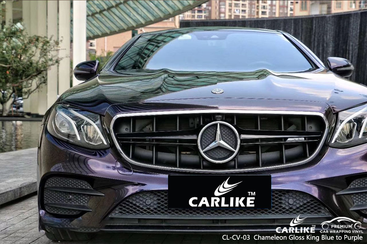 CARLIKE CL-CV-03 chameleon gloss king blue to purple car wrap vinyl for Mercedes-Benz