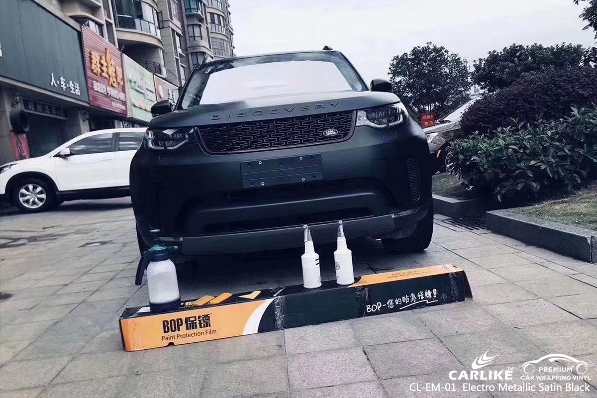 CARLIKE CL-EM-01 electro metallic satin black car wrap vinyl for Land Rover