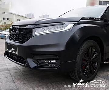 CARLIKE CL-EM-01 electro metallic satin black car wrap vinyl for Honda