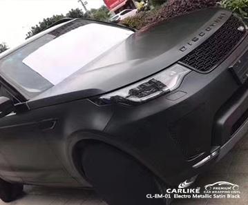 CL-EM-01 electro metallic satin black car wrap vinyl for Land Rover