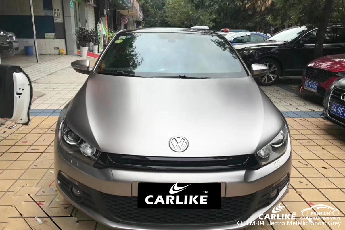 CARLIKE CL-EM-04 electro metallic ghost grey car wrap vinyl for Volkswagen