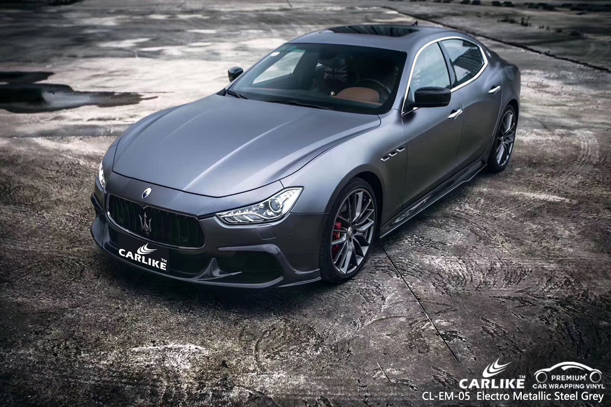 CARLIKE CL-EM-05 electro metallic steel grey car wrap vinyl for Maserati