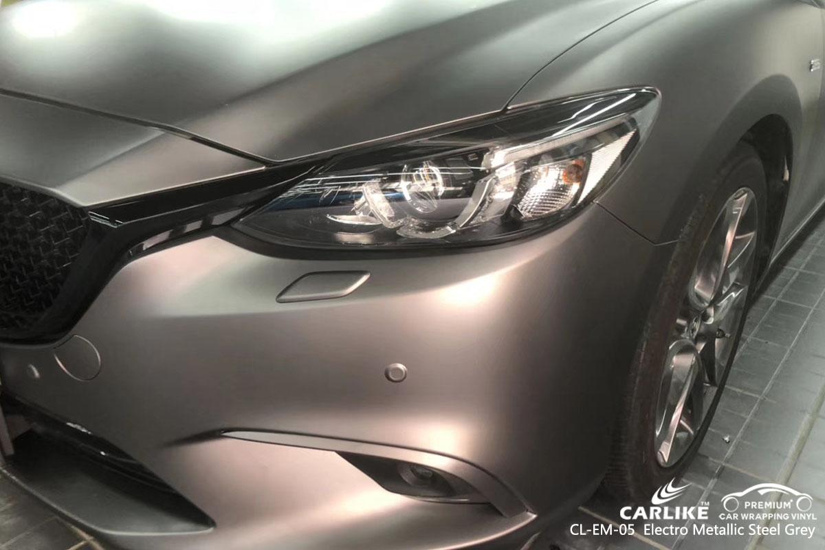 CARLIKE CL-EM-05 electro metallic steel grey car wrap vinyl for Mazda