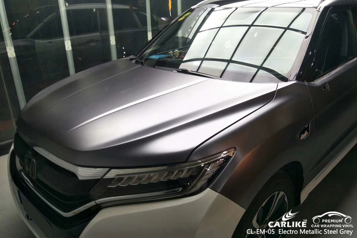 CARLIKE CL-EM-05 electro metallic steel grey car wrap vinyl for Mercedes-Benz