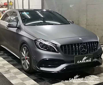 CARLIKE CL-EM-05 vinile avvolgente auto grigio metallizzato metallizzato per Mercedes-Benz