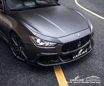 CARLIKE CL-EM-05 electro metallic steel grey car wrap vinyl for Maserati