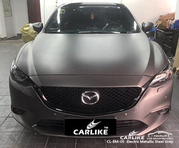 CARLIKE CL-EM-05 Vinilo electro-metálico de acero gris para automóviles Mazda