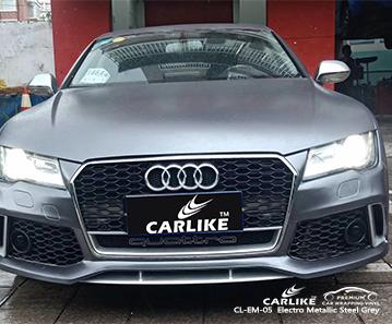 CARLIKE CL-EM-05 vinilo metalizado de acero gris metalizado para Audi