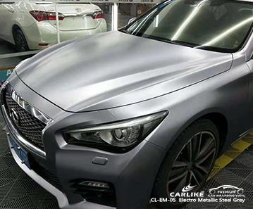 CARLIKE CL-EM-05 электро металлик сталь серый автомобильный винил для Infiniti