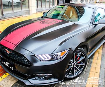 CARLIKE CL-EM-06 electro metallic titanium grey car wrap vinyl for Mustang