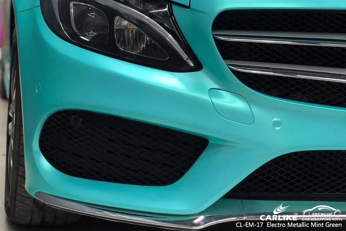 CARLIKE CL-EM-17 electro metallic mint green car wrap vinyl for Mercedes-Benz