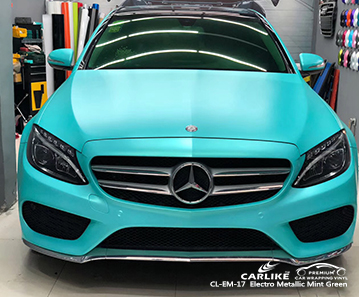 CARLIKE CL-EM-17 electro metallic mint green car wrap vinyl for Mercedes-Benz