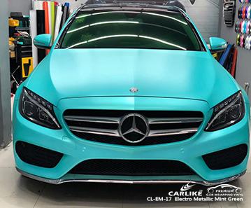 CARLIKE CL-EM-17 vinile avvolgente per auto elettro metallizzato verde menta per Mercedes-Benz