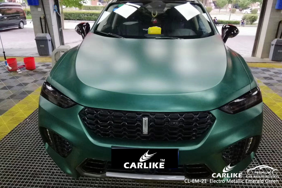 CARLIKE CL-EM-21 electro metallic emerald green car wrap vinyl for Wey