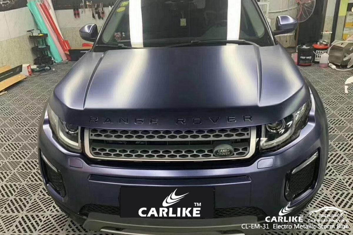 CARLIKE CL-EM-31 electro metallic storm blue car wrap vinyl for Land Rover