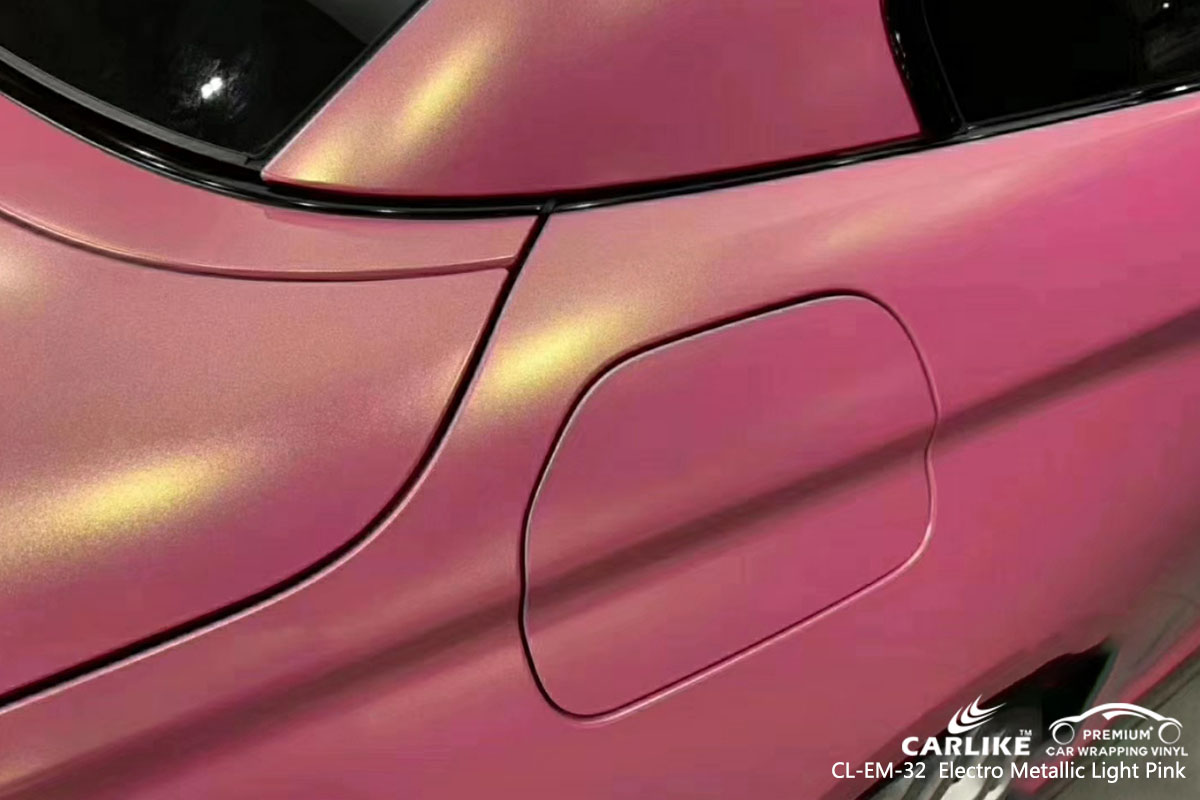 CARLIKE CL-EM-32 electro metallic light pink car wrap vinyl for BMW