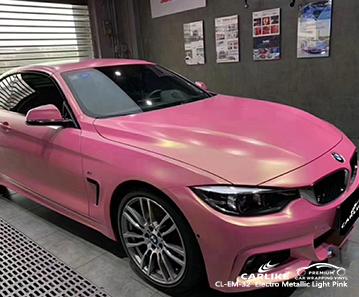CARLIKE CL-EM-32 Vinilo electro metálico rosa claro para BMW
