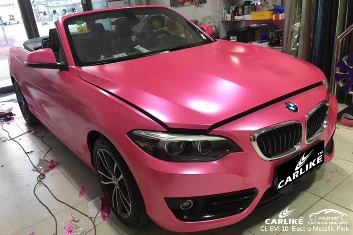 CARLIKE CL-EM-10 electro metallic pink car wrap vinyl for BMW
