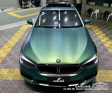 CARLIKE CL-EM-38 Vinilo electro metalizado de color verde selva para BMW