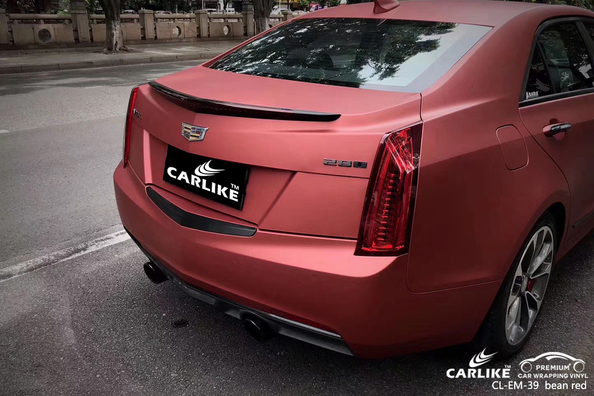 CARLIKE CL-EM-39 electro metallic bean red car wrap vinyl for Cadillac