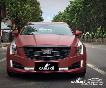 CL-EM-39 electro metallic bean red car wrap vinyl for Cadillac