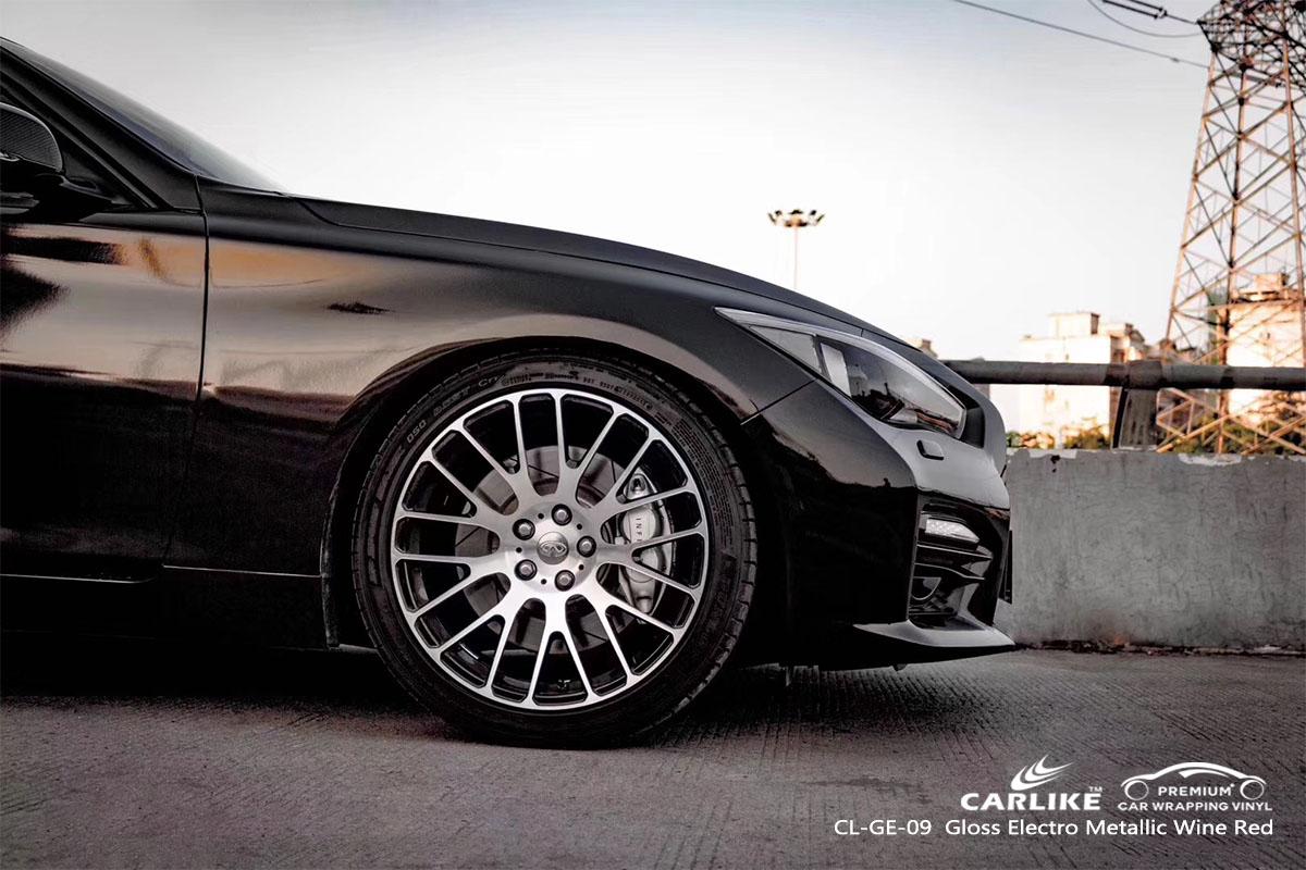 CARLIKE CL-GE-09 gloss electro metallic wine red car wrap vinyl for Infiniti
