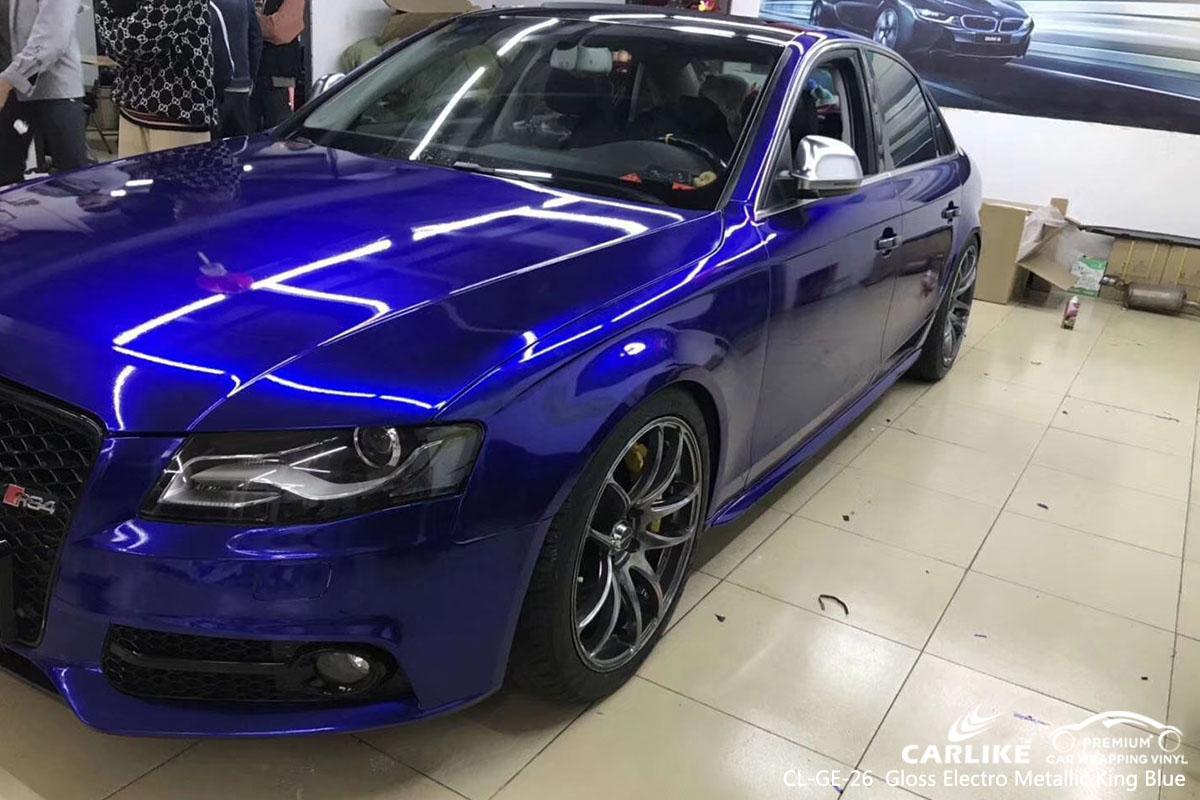 CARLIKE CL-GE-26 gloss electro metallic king blue car wrap vinyl for Audi