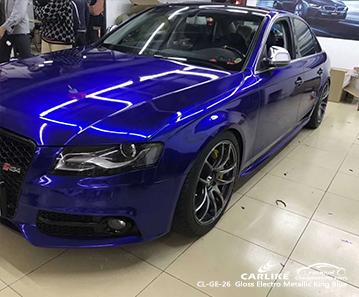 CARLIKE CL-GE-26 vinile avvolgente blu metallizzato elettro metallizzato per Audi