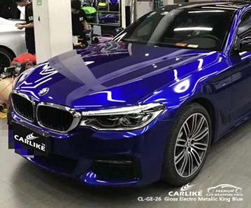 CARLIKE CL-GE-26 vinile avvolgente blu metallizzato elettro metallizzato per BMW