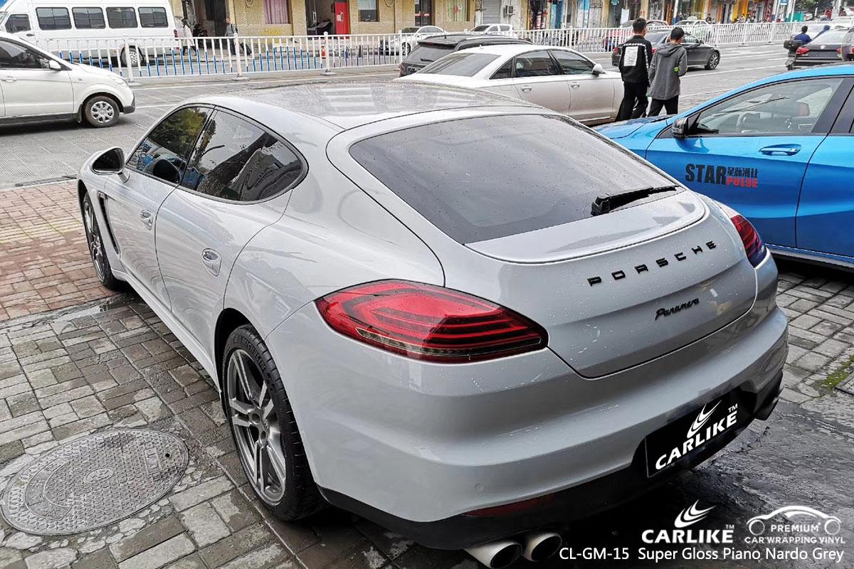 CARLIKE CL-GM-15 super gloss piano nardo grey car wrap vinyl for Porsche