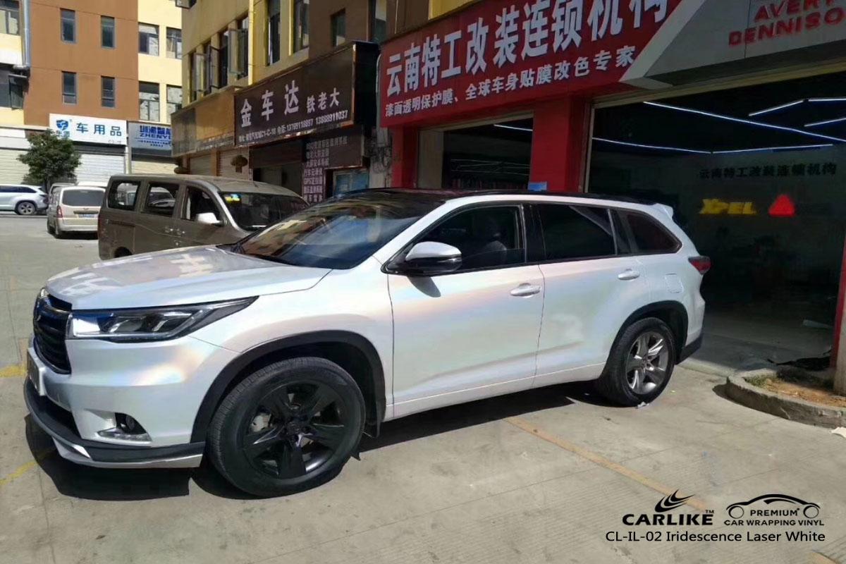 CARLIKE CL-IL-02 iridescence laser white car wrap vinyl