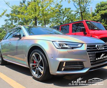 CARLIKE CL-IL-03 irisierende Laser Silber Car Wrap Vinyl für Audi