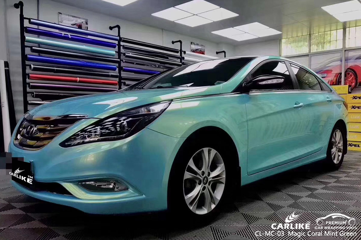CARLIKE CL-MC-03 magic coral mint green car wrap vinyl for Hyundai