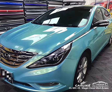 CARLIKE CL-MC-03 Magic Coral Mint Green Car Wrap Vinyl für Hyundai