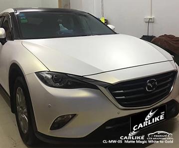CARLIKE CL-MW-05 vinile avvolgente per auto bianco opaco / magico per Mazda