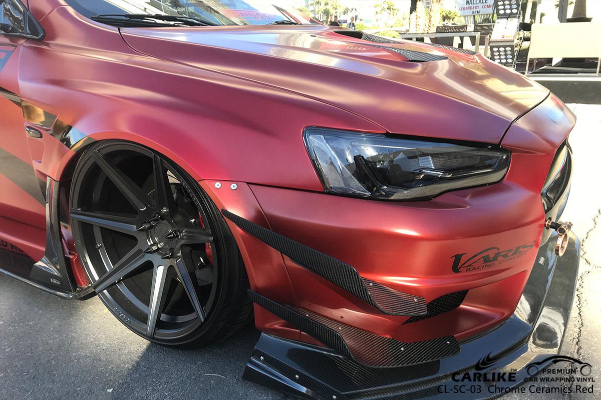 CARLIKE CL-SC-03 chrome ceramics red car wrap vinyl for Ford