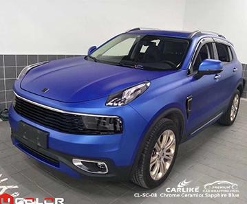 CARLIKE CL-SC-08 vinile per rivestimento auto blu zaffiro ceramica per LYNK & CO
