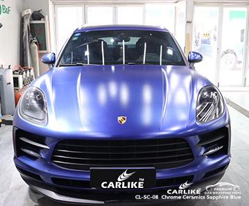 CARLIKE CL-SC-08 vinile per auto Porsche blu ceramico zaffiro cromato