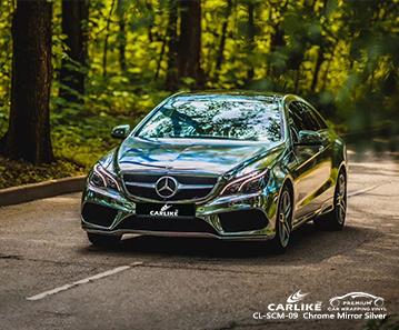 CARLIKE CL-SCM-09 specchio d'argento cromato per rivestimento auto in vinile per Mercedes-Benz