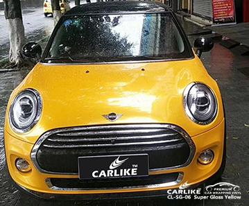 CARLIKE CL-SG-06 vinile avvolgente per auto giallo super lucido per Mini