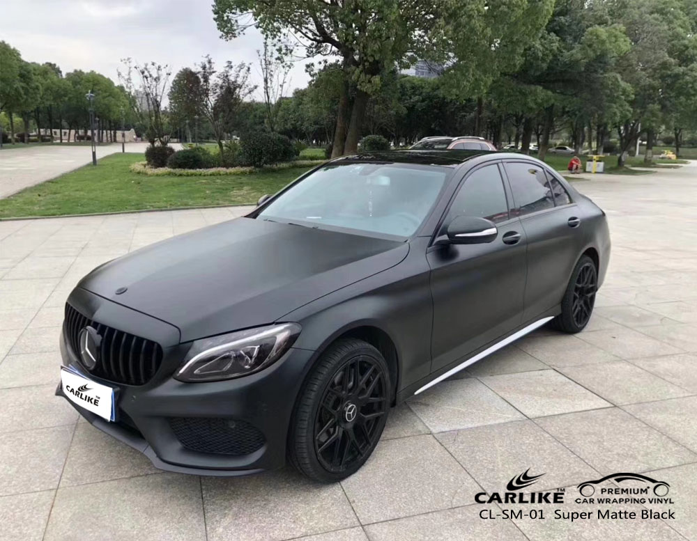 CARLIKE CL-SM-01 super matte black car wrap vinyl for Mercedes-Benz