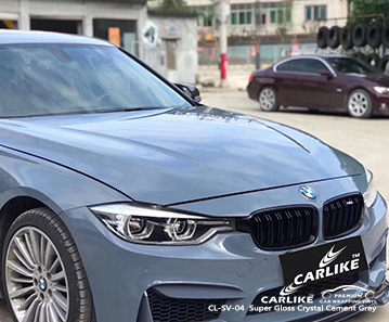 CARLIKE CL-SV-04 super brilho de cimento de cristal cinza carro envoltório de vinil para BMW