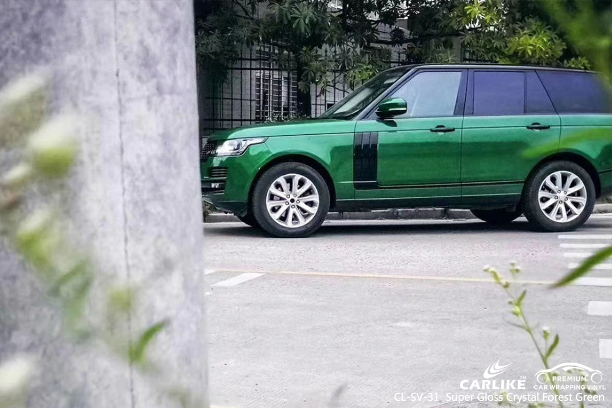 CARLIKE CL-SV-31 super gloss crystal forest green car wrap vinyl for Land Rover