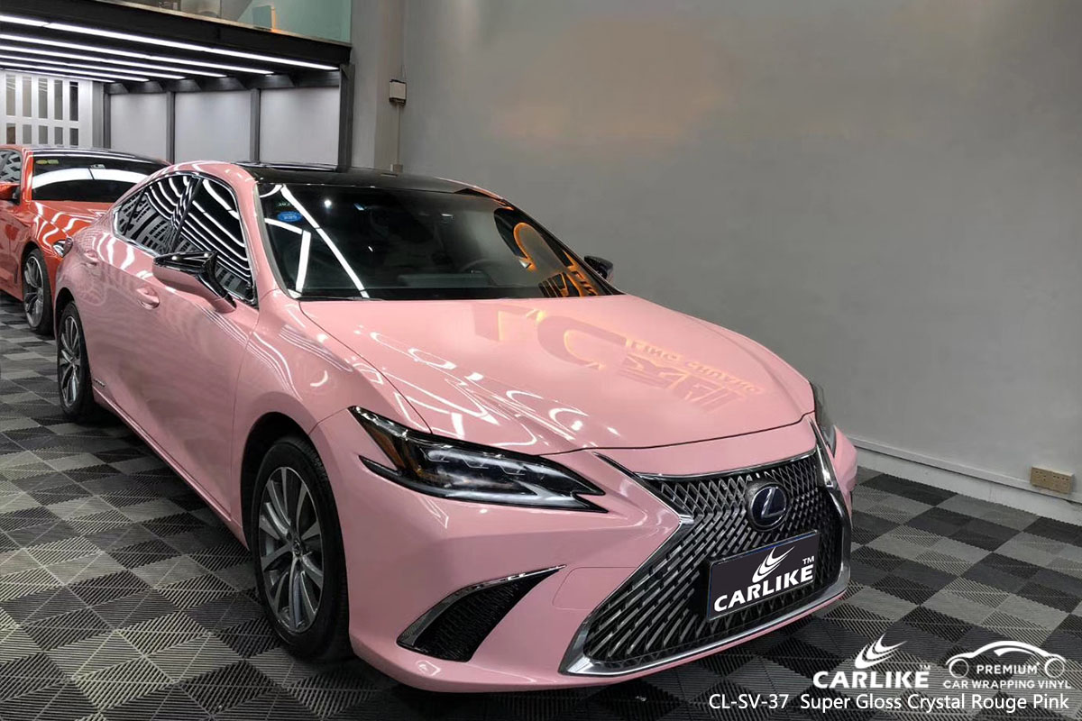 CARLIKE CL-SV-37 super gloss crystal rouge pink car wrap vinyl for Lexus